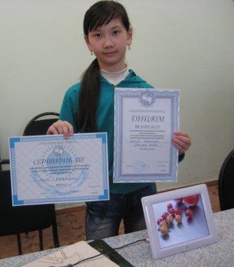 Абенова Бахытгуль - учащаяся Детской технической школы